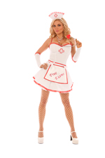 Free Exams Nurse Halloween Costume - S,M,L,XL