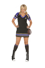 Football Fanatic Sexy 3 Pc Halloween Costume - 1X/2X,3X/4X