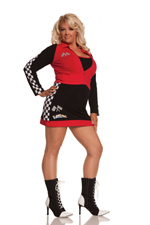 Raunchy Racer Sexy Racing 2 Piece Halloween Costume - Plus Sizes