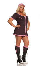 All Star Slugging Cutie 3 Pc Striped Halloween Costume ~ Diva Plus Sizes