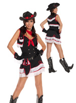 Ride'em Rodeo Western Girl Sexy Halloween Costume ~ Juniors