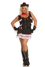 Ride'em Rodeo Western Girl Sexy Halloween Costume ~ Plus Diva Size