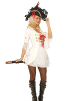 Pirate Queen Lacey Sexy Mini Dress Costume - Large
