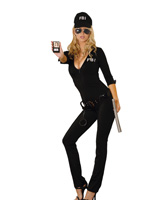 Federal Body Inspector FBI Sexy 7 Pc Halloween Costume - S,M,L