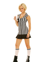 Raunchy Referee 3 Pc Halloween Costume ~ S-L
