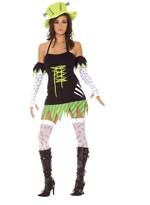 Funky Monster Sexy 5 Pc Halloween Costume ~ MEDIUM