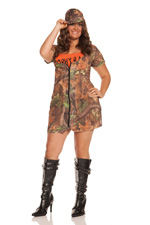 Hunting Huntress Sexy Camoflage 3 Pc Halloween Costume ~ Plus Diva Sizes