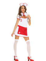 Nice Nurse Sexy 4 Piece Halloween Costume - S,M,L,XL