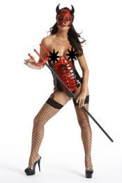 Devil In Disguise Cupless Corset Halloween Costume ~ 32-44