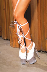 Ballerina Sock with Satin Lace Up ties, One Size
