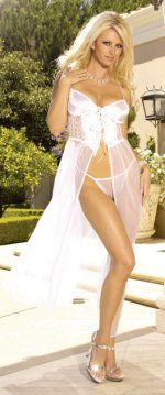 Joelle Collection 2 Piece Bustier Top Dress/Gown & G-String Bridal Set